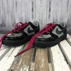Nike Black Grey Pink Canvas Sneaker Womens